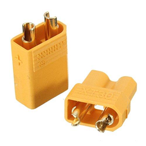 Mm Gold Männlich Weiblich Non-Slip Plug Interface Stecker (Männliche Und Weibliche Kostüm)