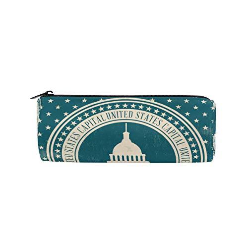 DEZIRO Tasche für Studenten, Vintage-Stil, US-Capital Drum