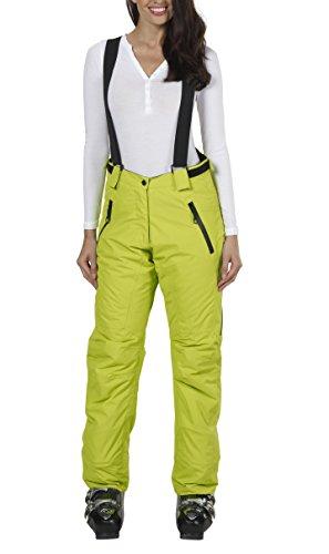 Ski-Hose Snowboard-Hosen für Damen von Fifty Five - Regina lime 56 - mit winddichter wasserdichter atmungsaktiver FIVE-TEX Membrane für Ski-Bekleidung