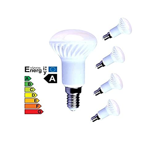 Lampaous 4er Pack R50 LED 5W E14 Reflektorlampe LED R50 Leuchmittel Keramik 400lm warmweiss 3000K