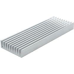Disipador de calor - TOOGOO(R)100mm x 35mm x 10mm Disipador de calor termal de aluminio para IC MOSFET SCR Componente Plata