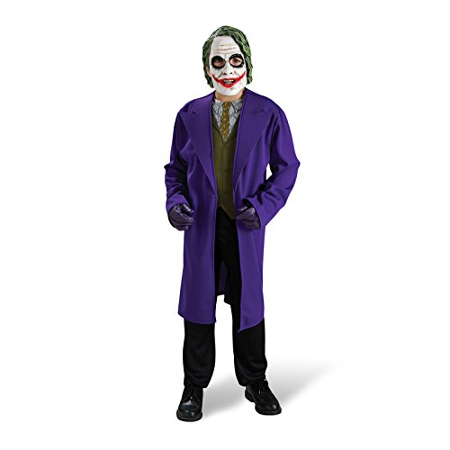Batman The Dark Knight - Joker Kostüm für Kinder, 2 teilig, Jacke und Maske - M (Batman Dark Knight Kinder Kostüme)