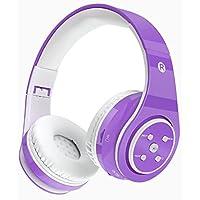 Auriculares para niños Auriculares inalámbricos con volumen de Bluetooth, tiempo de reproducción prolongado, ranura