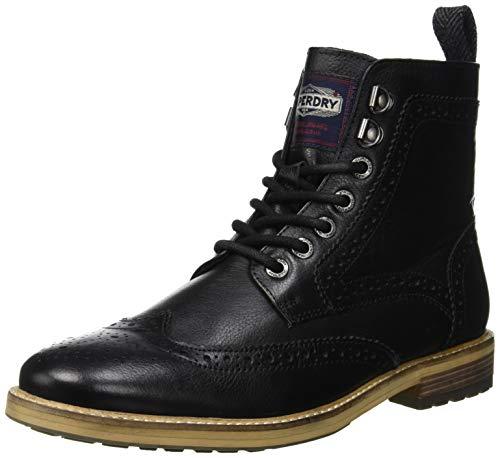 Superdry Herren Shooter Hohe Sneaker, Schwarz (Black 02A), 44 EU
