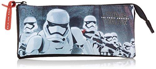 STAR WARS- Estuche portatodo Triple Lleno 34 Piezas (SAFTA 811601706), Color Negro y Rojo, 21 cm (