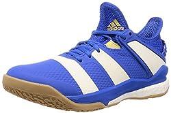 adidas Herren Handballschuhe Stabil X Blue/Off White/Gold met. 44 2/3