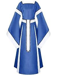 Vestido de Traje Renacentista Medieval Vestido ZARLLE Vestido de Retro Medieval renacentista de Las Mujeres Vestidos