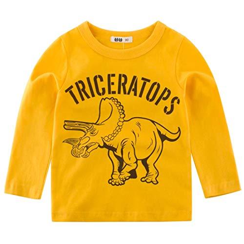 BesserBay Kinder T Shirts Dino Langarm Shirts Baumwolle gebraucht kaufen  Wird an jeden Ort in Deutschland