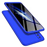 HMTECH iPhone XR Coque Ultra-Mince Anti-Choc 2 In 1 Full Body protection Hard Plastique PC Dur Etui Housse Coque Shell pour iPhone XR 6.1 Pouce,2 In 1 PC:Blue