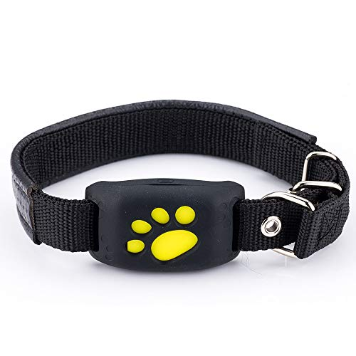 QNMM Dispositivo de rastreo de Mascotas GPS, localizador Anti-Perdidos de rastreo en Tiempo Real de Mascotas WiFi Dog Cat