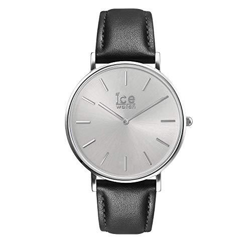 Ice-Watch - CITY classic Black silver - Reloj nero para Hombre con Correa de cuero - 016226 Medium