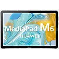 """HUAWEI MediaPad M6 - Tablet 10.8"""" con pantalla 2K de 2560 x 1600 IPS (Wifi, RAM de 4GB, ROM de 64GB, Kirin 980, EMUI 10) Color gris titanio - sin servicios de Google preinstalados"""