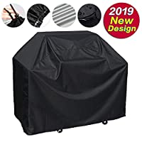 AMERTEER Grill Cover, Waterproof BBQ Cover, 600D Heavy Duty Gas Grill Cover for weber,Brinkmann, Char Broil, Holland and Jenn Air 170x61x117cm