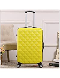 LIYUHAO Trolley Case-Silent Universal Wheel-Anti-Theft-ABS Material Suitcase-Wearable Waterproof and Shockproof Suitcase,Black,24in