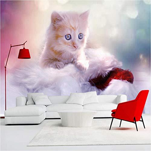 Benutzerdefinierte Jede Größe 3D Wandbild Tapete Nette Katze Kinderzimmer Schlafzimmer Foto Hintergrund Wanddekoration Wandverkleidung