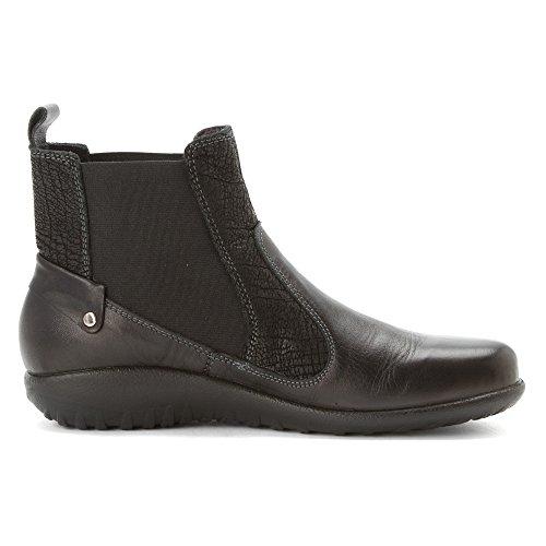 Naot Damen Schuhe Stiefeletten Konini Leder schwarz combi 12826 Wechselfußbett Schwarz Combi