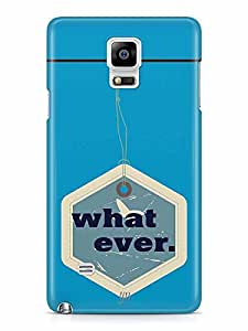 YuBingo What Ever Designer Mobile Case Back Cover for Samsung Galaxy Note 4