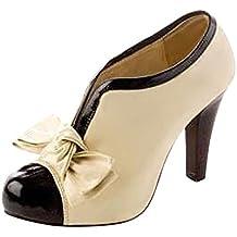 Donne Sexy Bow Pump Stiletti Piattaforma Scarpe Tacco Alto Shoes