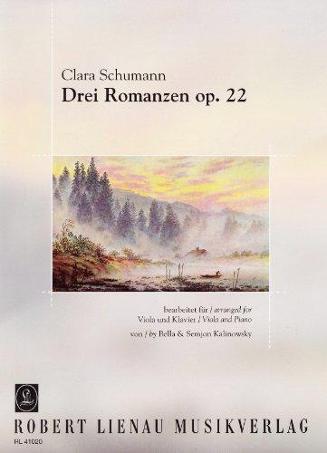 Drei Romanzen: op. 22. Viola und Klavier.