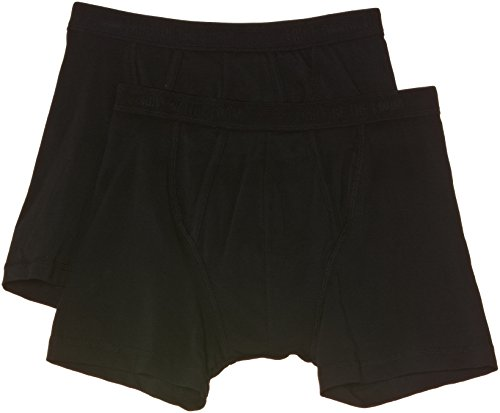 Fruit of the Loom Herren Boxershorts, Blickdicht, (36 schwarz), 8 (XXL)
