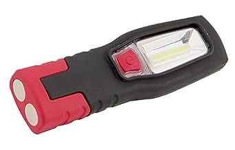 Velamp IS407 Lampe de Travail LED COB 3W Portable Support + Aimant + Crochet Noir