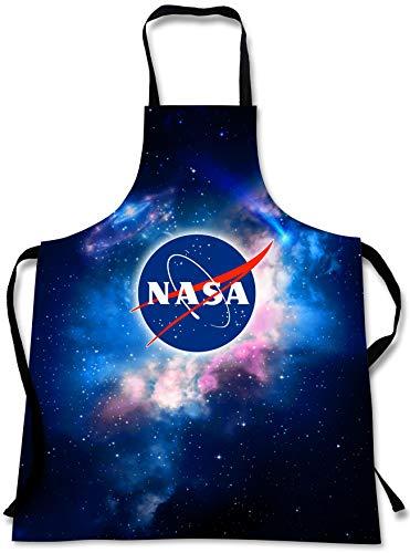 Space Vintage Kostüm - Sweet Gisele NASA Kochschürze Outer Space Cooking Schürze, 3D-Druck, Koch-Schürze, tolles Geschenk für Zuhause, Küche, Souvenir, weich, Reisezubehör, 1 Größe, verstellbar