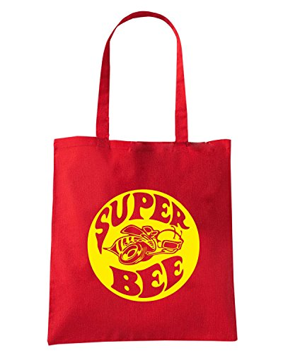 T-Shirtshock - Borsa Shopping TB0429 Super Bee American Muscle Car Dodge Coronet Mopar Rosso