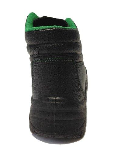 Lavoro cuff-daddy scarpe, e sicurezza scarpe stivali S3 stabile e leggera Nero (nero)