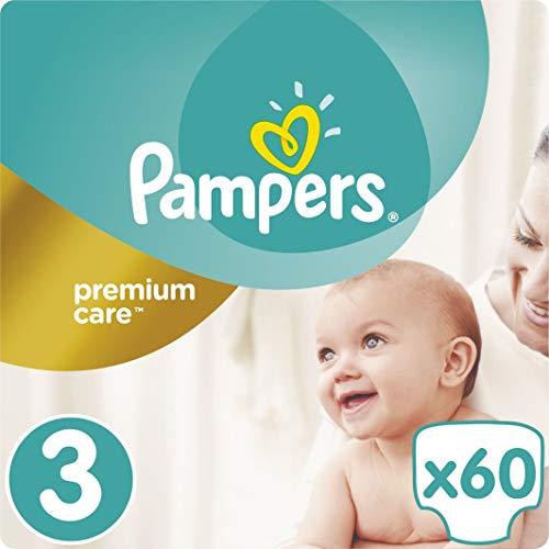 Pampers 274780 NEU 60 Windeln Pampers Premium Care Gr.3, 6-10 KG-Einweg-Windeln