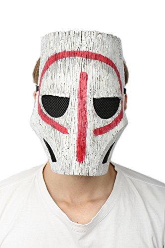 Preisvergleich Produktbild Cosplay Kostüm Maske Harz Weiß Adjust Helm Spiel Verrücktes Kleid Replik für Halloween Kleidung Zubehör Merchandise