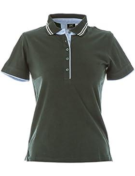 CHEMAGLIETTE! Polo Manica Corta Donna T-Shirt con Colletto Cotone Jersey Tre Bottoni JRC Rodi