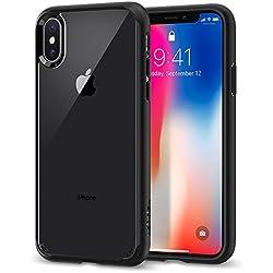 Spigen Ultra Hybrid Funda Negro - fundas para teléfonos móviles (Funda, Apple, iPhone X, Negro)