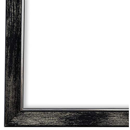 Online Galerie Bingold Bilderrahmen Schwarz Silber DIN A3 (29,7 x 42,0 cm) cm DINA3(29,7x42,0cm) - Modern, Shabby, Vintage - Alle Größen - handgefertigt in Deutschland - WRF - Frosinone 1,8