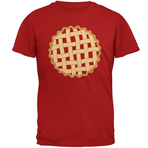 Halloween Gitter Pie Kostüm Erdbeere Kirsche Mens Soft T Shirt rot X-LG