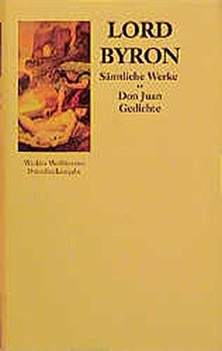 Sämtliche Werke, Bd. 2: Don Juan - Gedichte