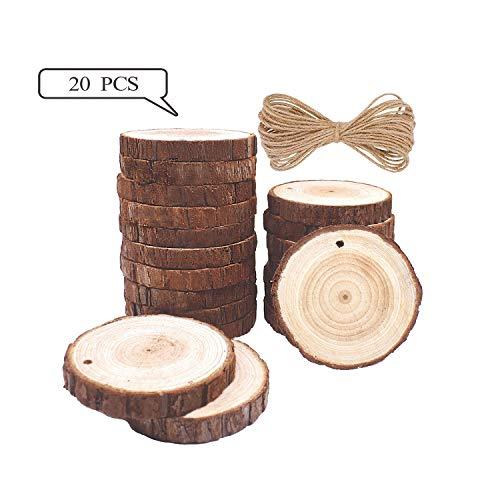 Rodajas Madera Círculos 8-9cm 20 pcs TICOSH Discos
