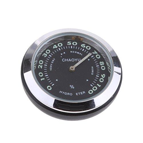 Homyl Mini Thermometer Hygrometer für Auto, Boot, Schiff, Schreibtisch, Tisch, Einfach zu installieren, Wasserdicht, 4 * 4 * 4cm - Schwarz (Schiffe, Uhren)