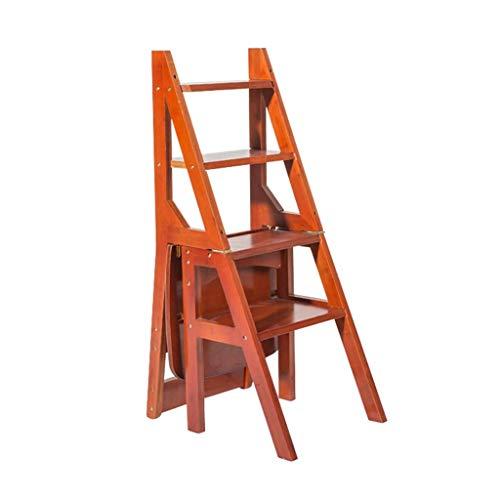 STEP STOOL Klappbarer Trittleiter, 4-stufiger Holzleiter-Hocker Rutschfester Multifunktionsschlafzimmer-Wohnraum 46 X 40 X 90