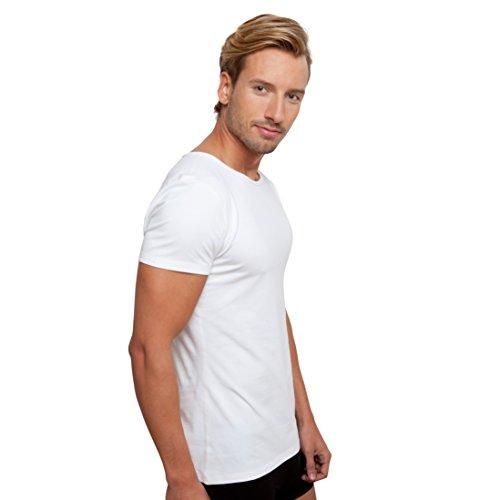 Tshirt Rundhals Weiß Herren, Männer Weiß