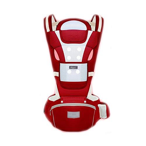 WYNZYYEBD Ergonomische Babytrage, 360 Grad Atmungsaktiv, Geeignet Für 0-36 Monate Baby, Vier Jahreszeiten Universal, 6-in-1-Babytrage Aus Baumwolle, Star Blue, China Red (Farbe : China red)