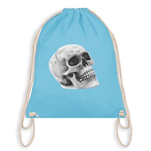 Piraten & Totenkopf - Totenkopf Skull - Turnbeutel I Gym Bag Hellblau