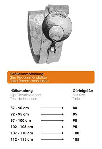 CASPAR GU225 Ceinture large pour femme or foncé antique