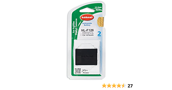 Hahnel Hl F126 Li Ion Replacement Battery For Fujifilm Camera Photo