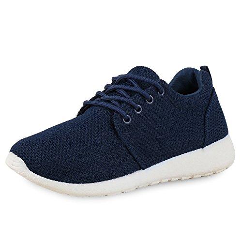 Unisex Damen Laufschuhe Fitness Sneaker Sport Turnschuhe HERREN Sportschuhe Dunkelblau Blau Weiss Blu Nuovo 44