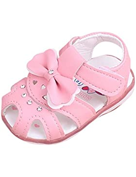 BBestseller Zapatos Bebé,Princesa Niñas Bebe Bowknot Luminoso iluminacion Zapatilla Calzado Sandalias de Playa...