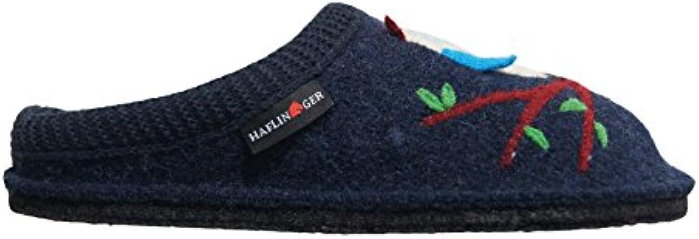 Pantofole HAFLINGER SOFT Olivia art. 31305279 Blu in lana cotta
