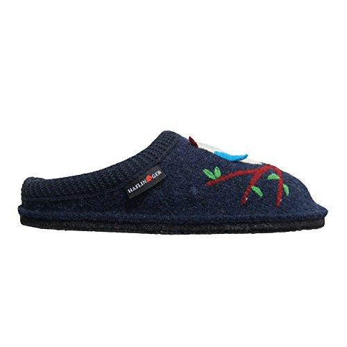 Pantofole HAFLINGER SOFT Olivia art. 31305279 Blu in lana cotta Blu