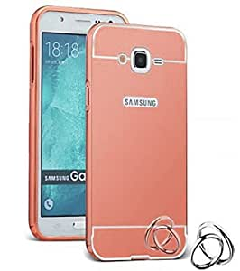 Aart Luxury Metal Bumper + Acrylic Mirror Back Cover Case For SamsungE5 RoseGold By Aart store