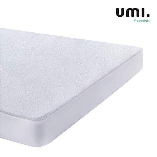 Umi. Essentials - Protector de colchón de Rizo algodón Impermeable y Transpirable - 120 x 190/200...