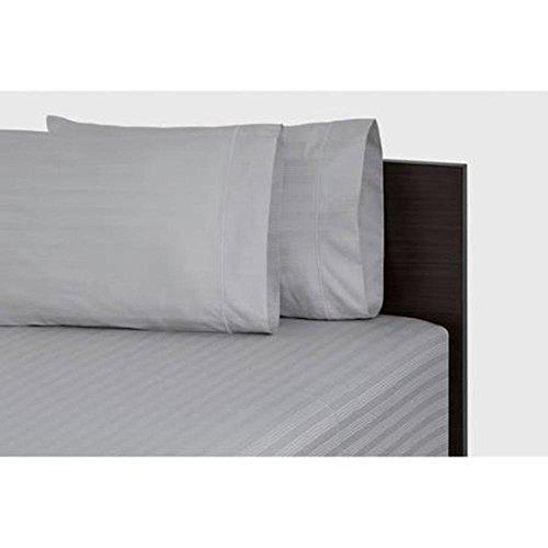 400-thread Zählen Damast-Bettlaken-Set, baumwolle, Platinum Silver, King Size